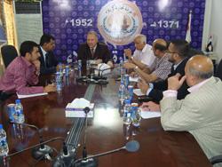 استعراض مجالات التعاون الاستثماري بين الغرفة وممثلي مجموعة شركات كريدو (CREDO) الباكستانية