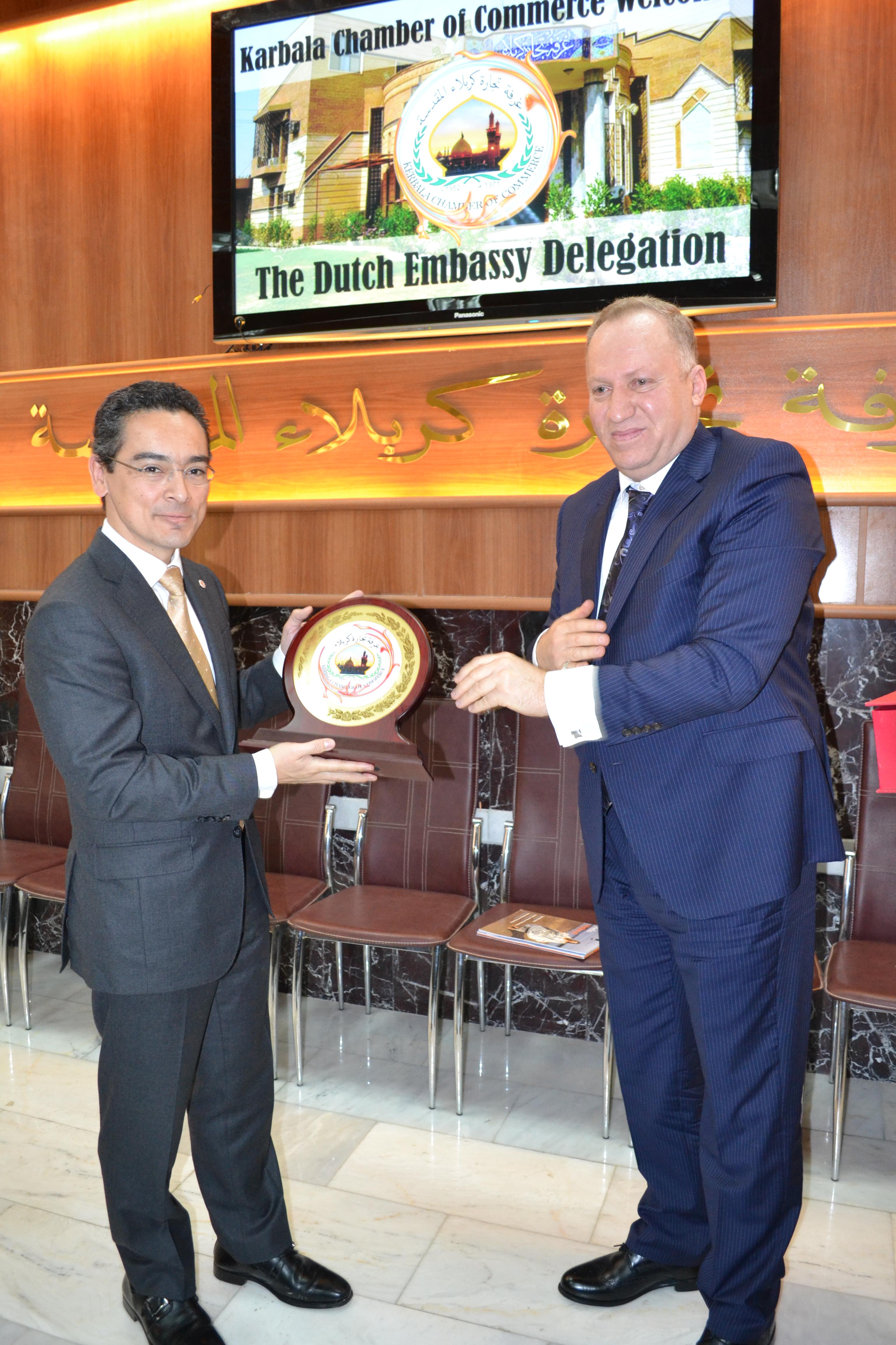 زيارة نائب السفير الهولندي في العراق مبنى غرفة تجارة كربلاء