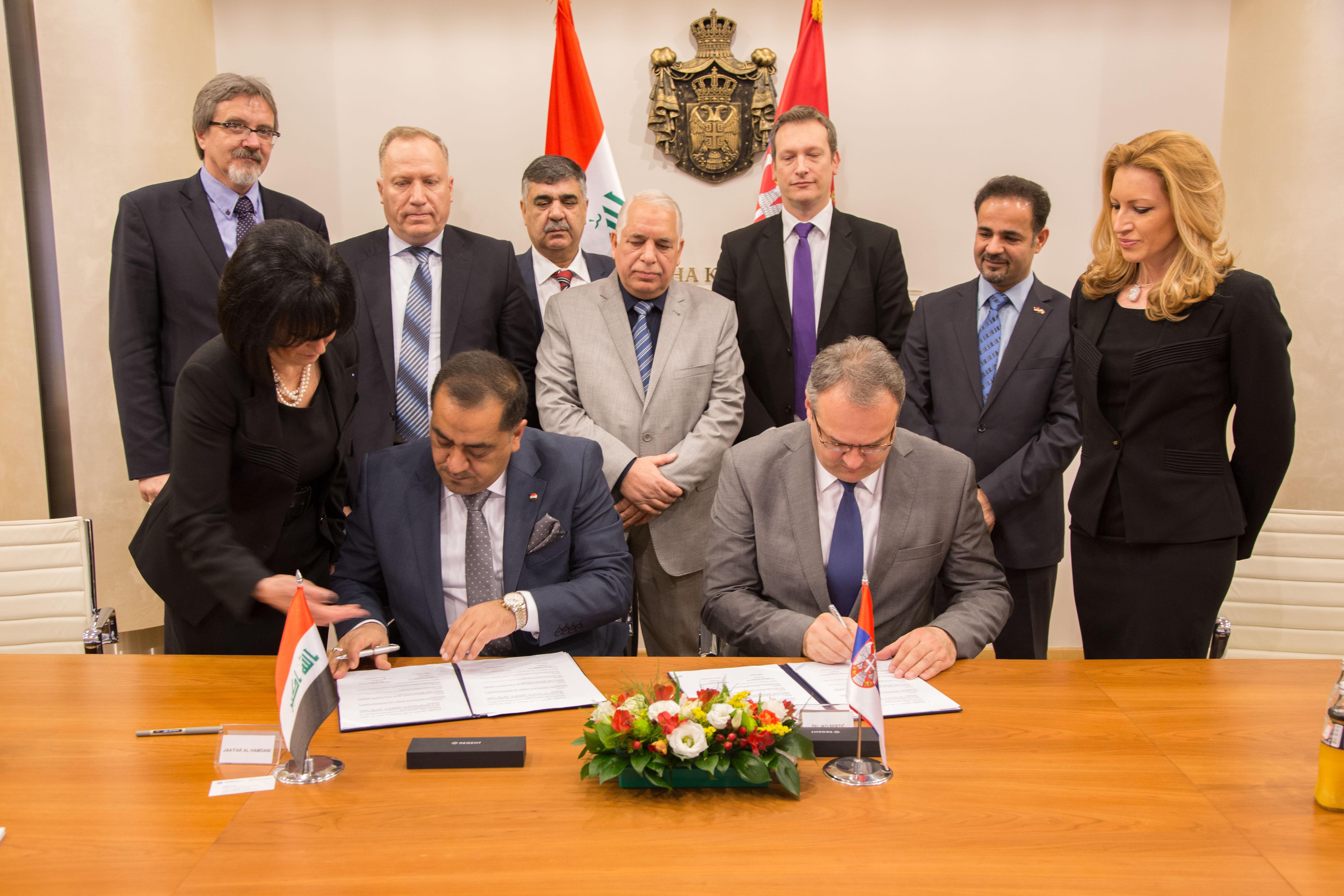 توقيع اتفاقية للتعاون المشترك بين العراق وصربيا
