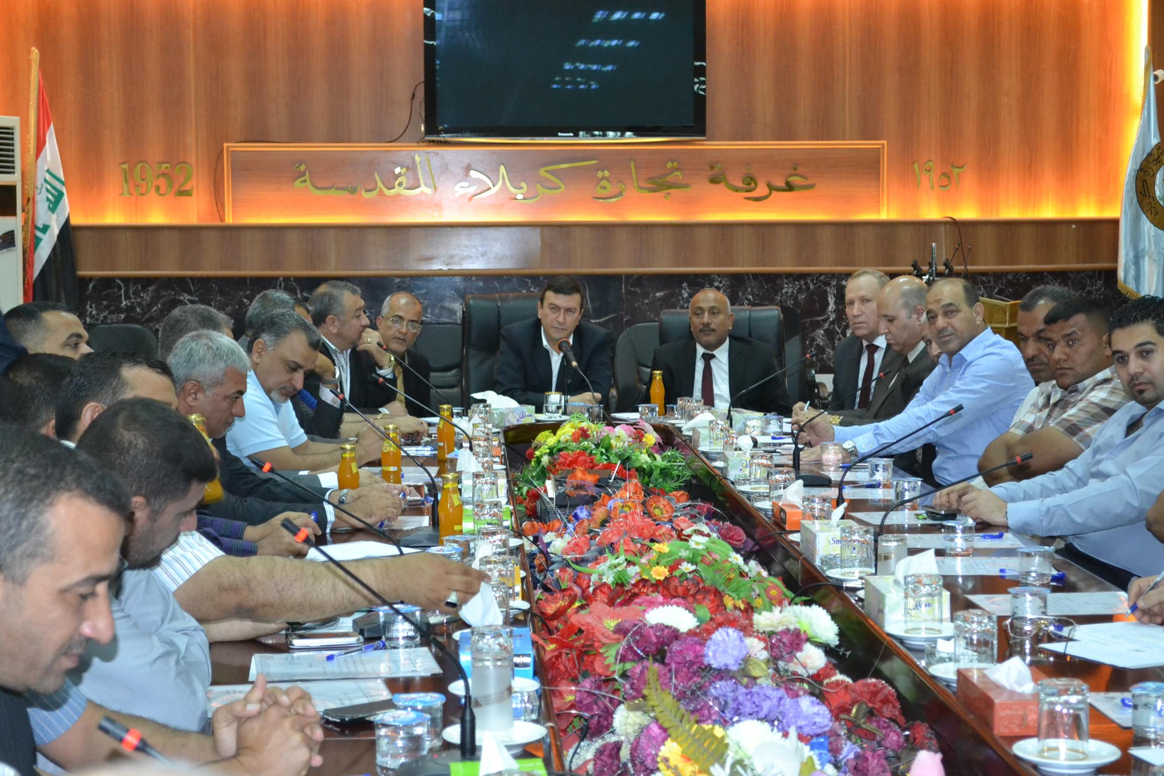 لدعم واسناد الجهد العسكري تجار كربلاء يعملون على تعزيز وترصين الجبهة الداخلية